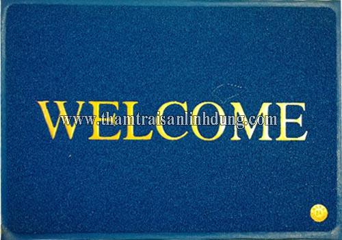 Thảm welcome màu xanh dương
