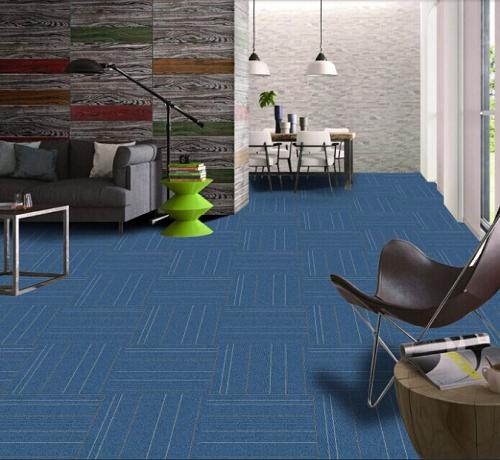 Thảm màu xanh