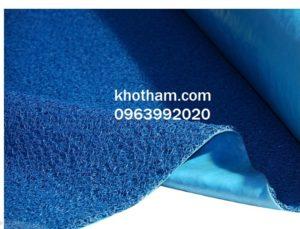 Thảm nhựa rối chùi chân màu xanh