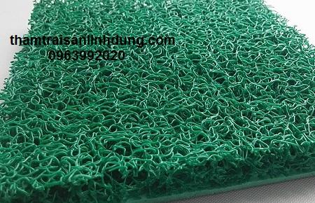 Thảm nhựa rối surem trải sàn màu xanh