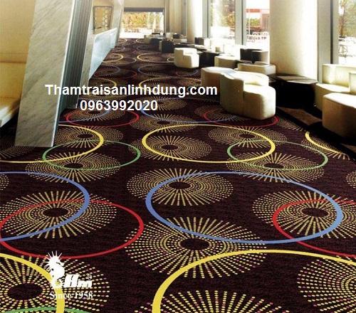 Thảm in nylon hoa văn nhà hàng sang trọng